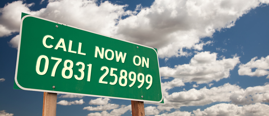 Call now on 07831 258999